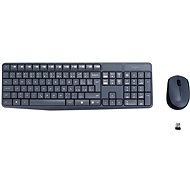 Logitech Wireless Combo MK235 GB grau