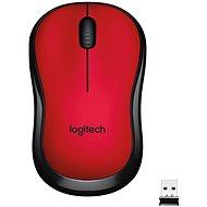 Myš Logitech Wireless Mouse M220 Silent, červená