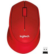 Logitech Wireless Mouse M330 Plus-Leise, rot - Maus