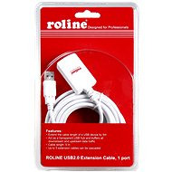 ROLINE USB 2.0 Extension 5m AA Active White - Cable