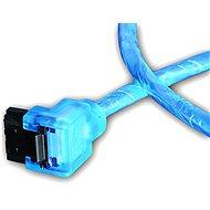 AKASA SATA 0,5 m UV kék - Adatkábel