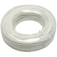 Datacom, telephone and 4-wire, white, 100m