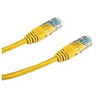 Datacom, CAT6, UTP, 0.25m žlutý - Síťový kabel