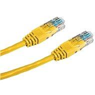 Datacom, CAT5E, UTP, 0,25 m, žltý