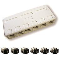 Datacom, CAT5E, UTP, 6x RJ45, surface-mounted - Socket