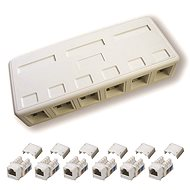 Datacom, CAT6, UTP, 6x RJ45, surface-mounted - Socket