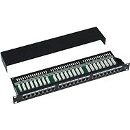 Datacom, 24x RJ45, direkt, CAT5E, STP, schwarz, 1 HE - Patch Panel