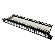 Datacom, 24x RJ45 gerade CAT6A STP, schwarz, 1HE - Patch Panel