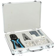 Network Kit, network tester, Wire Pliers 8P+6P, RJ45 plugs - Set