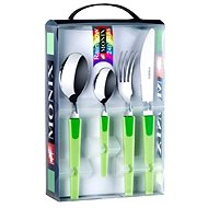 MONIX Cutlery Set 24pcs RAINBOW Green M184972