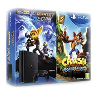 Sony PlayStation 4 - 500GB Slim + 2 Spiele Crash Bandicoot N. Sane Trilogy + Ratchet&Clank - Spielkonsole