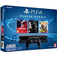 Sony Playstation 4 + 3 hry (Driveclub, The Last of Us, Little Big Planet 3)