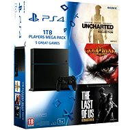 Sony Playstation 4 - 1 TB + 5 hier (God of War 3 Remastered + The Last of Us CZ + Uncharted Collection