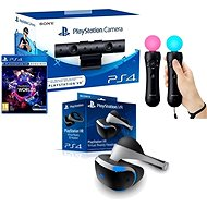 PlayStation VR for Playstation 4 (PS4) + VR Worlds game + PS4 camera + PS MOVE Twin Pack - VR Headset