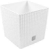 Prosperplast RATO LOW 20x20x20.2cm, 5/6.8l, bílý - Květináč