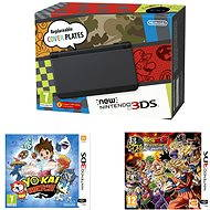 Nintendo NEW 3DS Black + DragonBall Z: Extreme Butoden + YO-KAI WATCH - Herní konzole