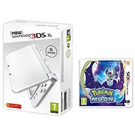 Nintendo NEW 3DS XL Pearl White + Pokemon Moon - Game Console