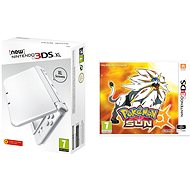 Nintendo NEW 3DS XL Pearl White + Pokemon Sun - Herní konzole