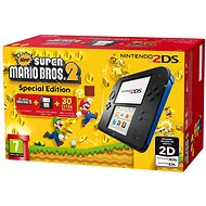 Nintendo 2DS Black & Blue + New Super Mario Bros. 2 - Herní konzole