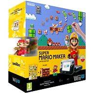 Nintendo Wii U Black Premium Pack+Super Mario Maker+amiibo+ New Super Mario and Luigi