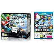 Nintendo Wii U Premium Pack Black + Mario Kart 8 + New Super Mario and Luigi