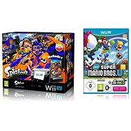 Nintendo Wii U Premium Pack + Splatoon + New Super Mario & Luigi
