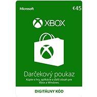 Microsoft Xbox Live Dárková karta v hodnotě 45 Eur
