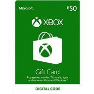 Microsoft Xbox Live Dárková karta v hodnotě 50 Eur - Dobíjecí kupón pro Xbox Live!