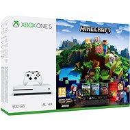 Xbox One S 500GB Minecraft + Minecraft Story Mode 2 + 3 měsíční LIVE GOLD - Herní konzole