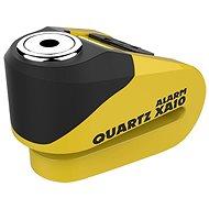 OXFORD zámek kotoučové brzdy Quartz Alarm XA10, (integrovaný alarm, žlutý/černý, průměr čepu 10mm) - Příslušenství