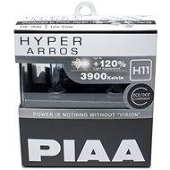 Autožárovky PIAA Hyper Arros 3900K H11 - o 120 procent vyšší svítivost, zvýšený jas - Autožárovka