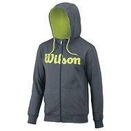 Wilson M Script Cotton FZ Hoody Dk Gray / GR - Sweatshirt