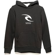 Rip Curl Icon Hooded Zip Black - Mikina