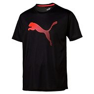 Puma Vent Cat Tee Puma Black-Red Bl - Triko