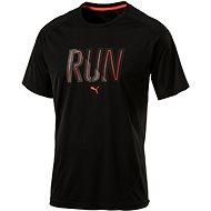 Puma Run S S Tee Puma Black - T-Shirt