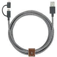 Native Union Belt Lightning MicroUSB 2m černo-bílý - Datový kabel