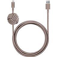 Native Union Night Lightning 3m Taupe - Datový kabel