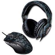 ASUS Sluchátka s mikrofonem Echelon Navy + Myš Gaming Laser