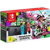 Nintendo Switch - Neon + Splatoon 2 - Herní konzole