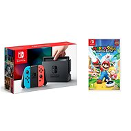 Nintendo Switch - Neon + Mario & Rabbids - Game Console