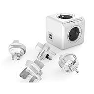 PowerCube Rewirable USB + Travel Plugs šedá