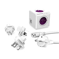PowerCube Rewirable USB + Travel Plugs + IEC kabel - Adaptér