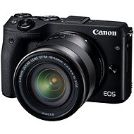 Canon EOS black M3 + EF-M 18-55 mm