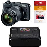 Canon EOS M6 černý + EF-M 18-150mm + Canon SELPHY CP1200 černá + papíry RP-54