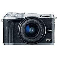 Canon EOS M6 stříbrný + EF-M 15-45mm + 55-200mm - Digital Camera