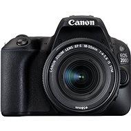 Canon EOS 200D Fekete váz + 18-55mm IS STM - Digitális tükörreflexes fényképezőgép
