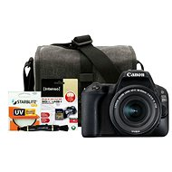 Canon EOS 200D černý + 18-55mm IS STM + Canon Starter Kit - Digitale Spiegelreflexkamera