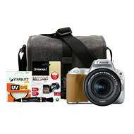Canon EOS 200D stříbrný + 18-55mm IS STM + Canon Starter Kit - Digitale Spiegelreflexkamera