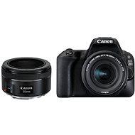 Canon EOS 200D černý + 18-55 mm IS STM + 50 mm f/1,8 STM - Digitální zrcadlovka
