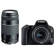 Canon EOS 200D Schwarz + 18-55 mm DC III + 75-300 mm DC III - Digitale Spiegelreflexkamera